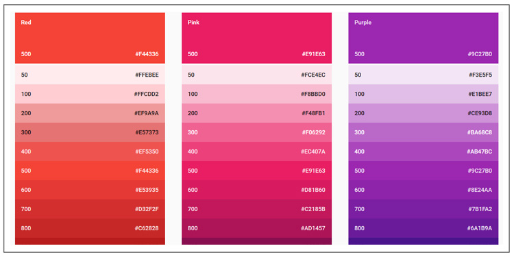 Google Material Design For Shopify Theme color