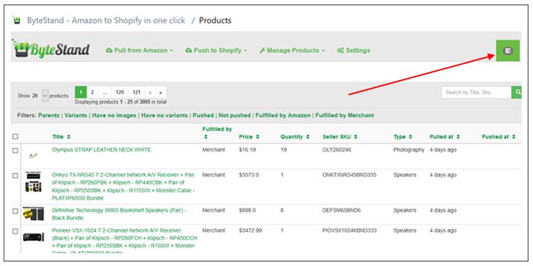ByteStand - Amazon to Shopfiy