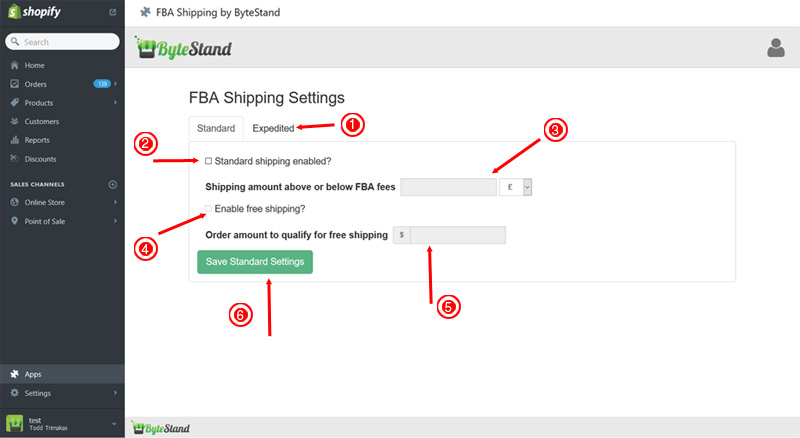 Amazon UK FBA to Shopify