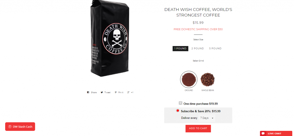 Death Wish - best Shopify store