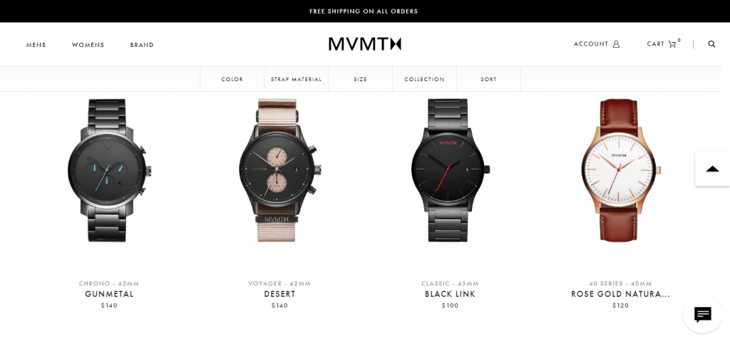 MVMT - best Shopify store